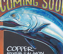 Salmon Sign Painting for Whole Foods Market®