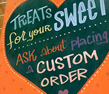Treats For Your Sweet Chalk Sign for Whole Foods Market®
