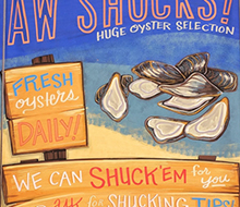 Oyster Chalk Sign for Whole Foods Market®