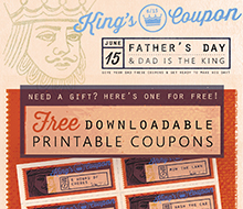 Father's Day Coupons © Michelle Schwartzbauer Design, LLC