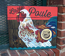 Rustic Chicken Sign